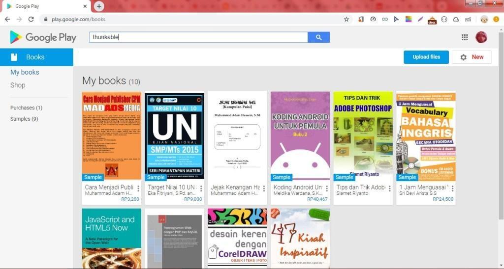 Cách tạo Liên kết Sách điện tử trên Google Play Sách đặc biệt trên Blogger. 1