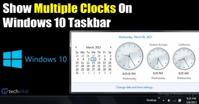 Cách thêm nhiều đồng hồ trên Windows 10 thanh tác vụ 3