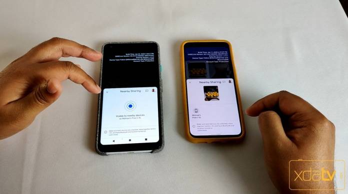 Chia sẻ gần đây trên Android cũng có thể hoạt động cho các thiết bị không phải là Pixel 1