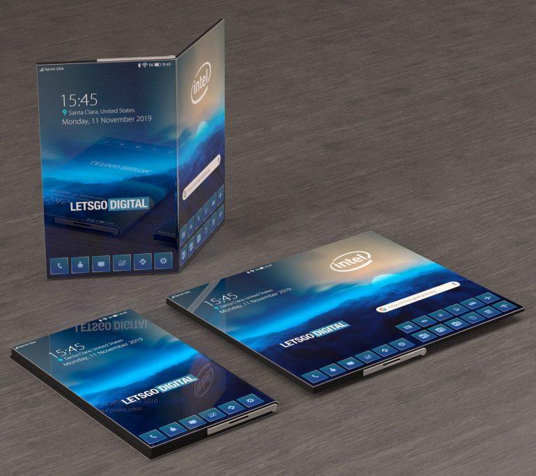 Intel không chỉ nghĩ về bộ vi xử lý: đây là điện thoại thông minh gấp của nó có thể trông như thế nào (ảnh) 1