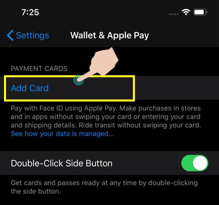 Thêm thẻ giao thông mới trong iPhone