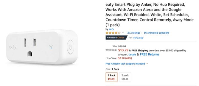 Lấy phích cắm thông minh Eufy nhỏ gọn và đáng tin cậy của Anker chỉ với $ 14 ($9 tắt) 28