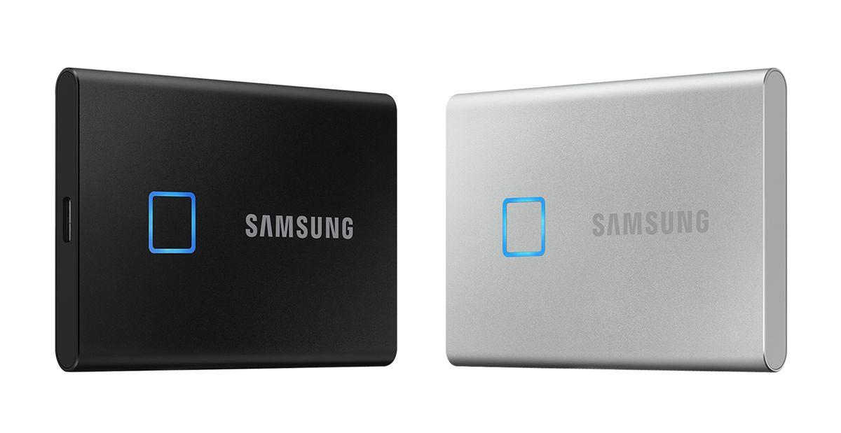 SSD SSD Samsung T7 Touch đi kèm với cảm biến vân tay