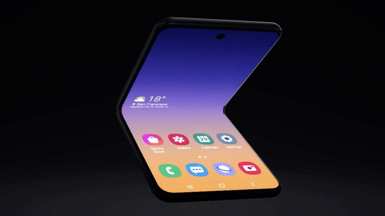 Samsung Galaxy Z có thể được gấp ở hai vị trí 1