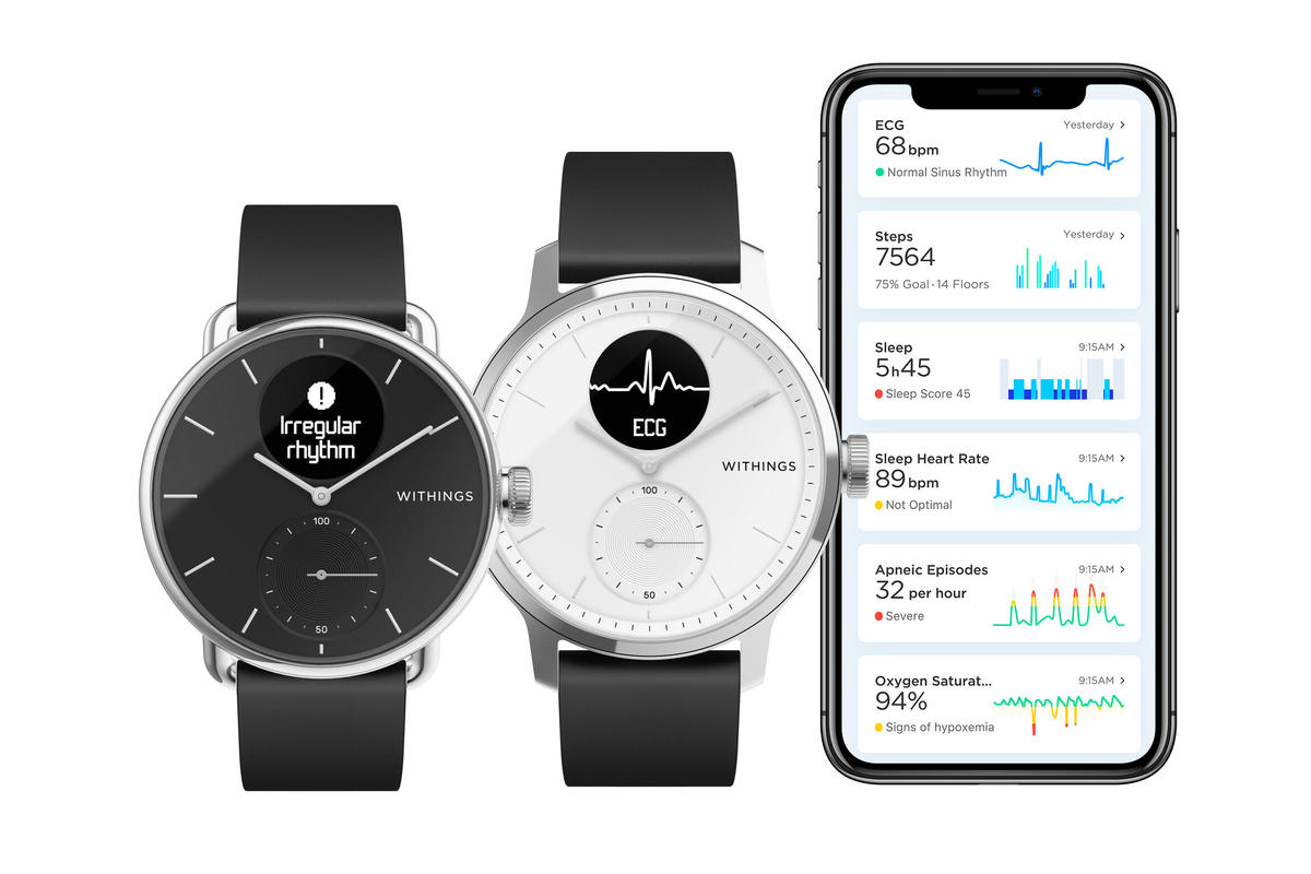 Withings ScanWatch với ứng dụng