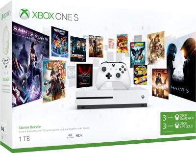 Microsoft Xbox One S 1 TB  với Gói Xbox Starter (3 Tháng trò chơi Xbox Pass và Xbox Live Gold) (Trắng)