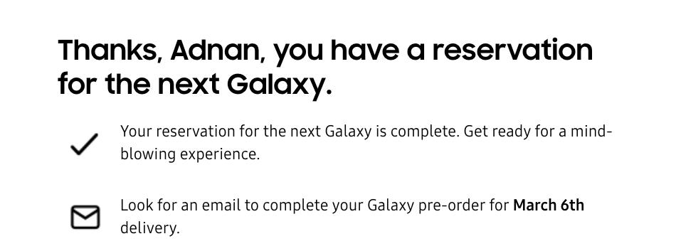 Trang web Samsung tiết lộ Galaxy Ngày phát hành S20 có khả năng là tháng ba 6 1