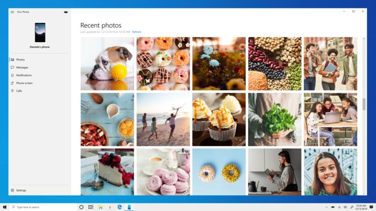 Ứng dụng điện thoại của bạn cho Windows 10 giờ hiển thị 2, 000 ảnh từ thiết bị Android của bạn 1