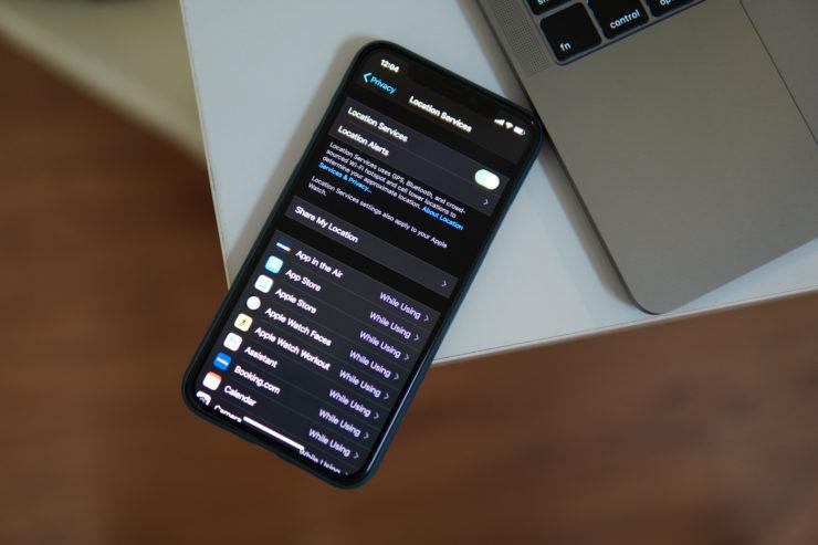 iOS 13 dịch Vụ vị Trí trên iPhone