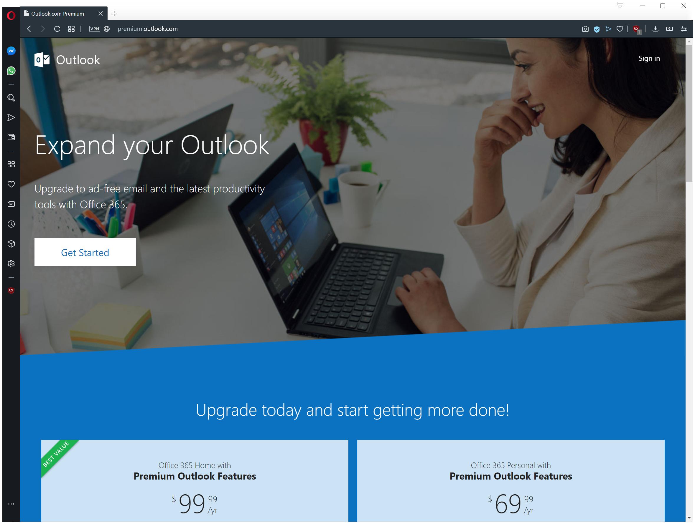 Đó là địa chỉ email Premium của Outlook.com? Đã qua, trừ khi bạn nhận được đăng ký Office 365