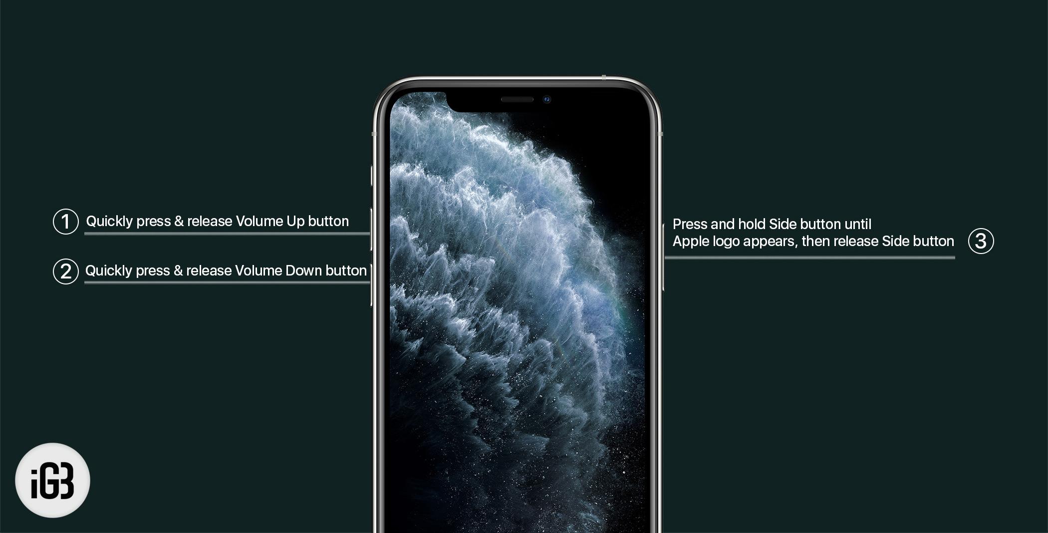 Cách khởi động lại iPhone 11, 11 Pro và 11 Pro Max