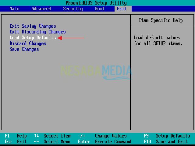đặt lại mặc định BIOS 2