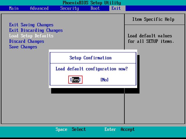 đặt lại mặc định BIOS 3