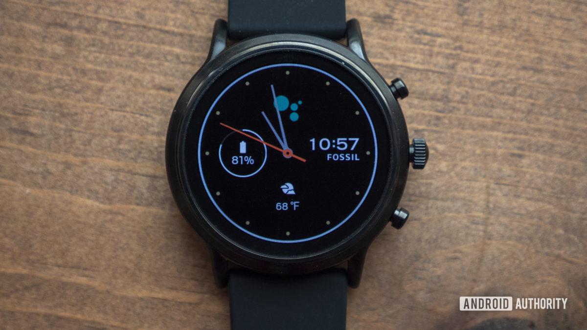 gen hóa thạch 5 xem xét smartwatch mặt đồng hồ 5