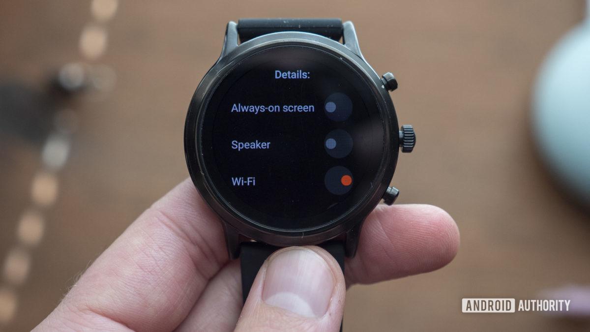 gen hóa thạch 5 smartwatch xem lại các chế độ pin tùy chỉnh 2
