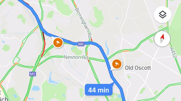 Google Maps tốc độ máy ảnh