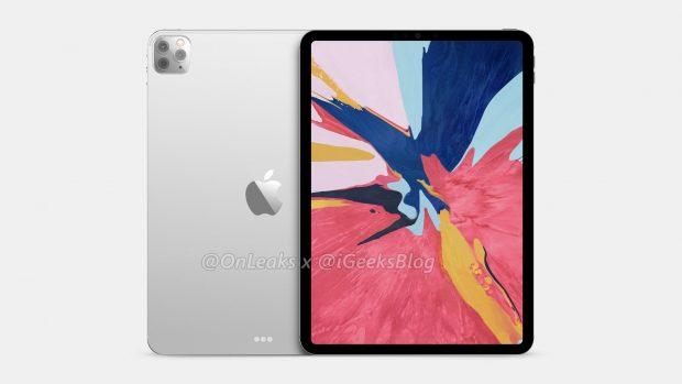 iPad Pro 2020: kết xuất lần đầu tiên với cảm biến ảnh ba 3