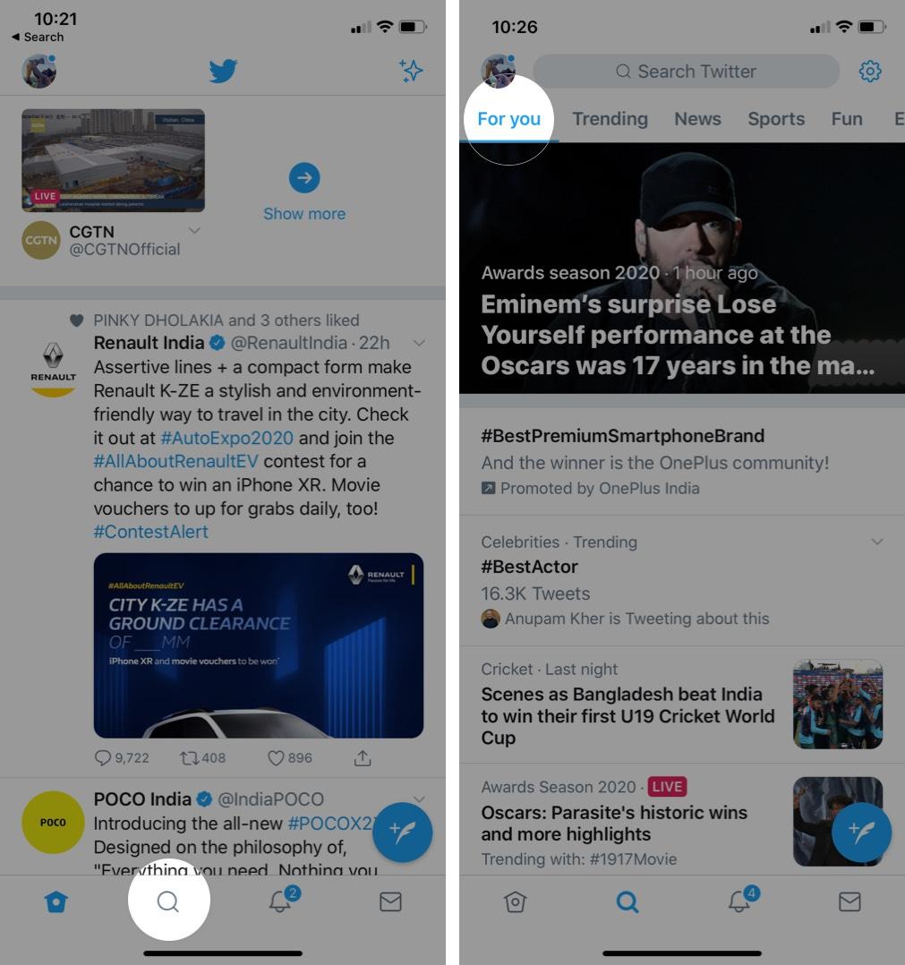Cách theo dõi và hủy theo dõi chủ đề trên Twitter Ứng dụng cho iPhone 3