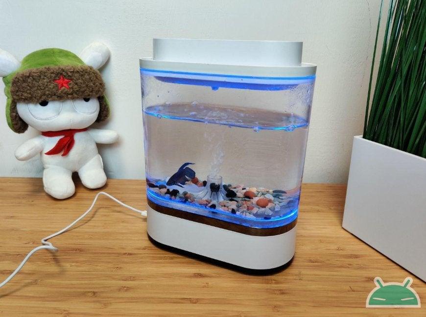 Đánh giá Xiaomi Geometry Mini Lazy Fish Tank: bể cá thiết kế cho bàn làm việc của bạn 3