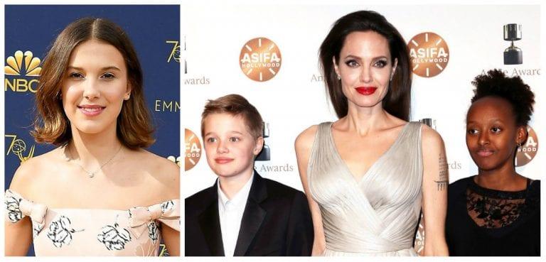 Hình ảnh Millie Bobby Brown đi chơi với Angelina Jolie từ trẻ em: Shiloh (12) và Zahara (14) 11