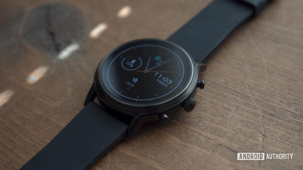 gen hóa thạch 5 xem xét smartwatch mặt đồng hồ 8