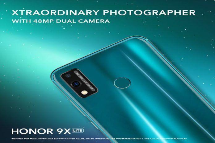 Honor 9X Lite với Thiết lập máy ảnh kép 48MP sắp ra mắt, Đề xuất áp phích bị rò rỉ 2