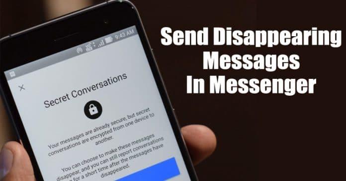 Làm thế nào để gửi tin nhắn biến mất trong Facebook Messenger 2