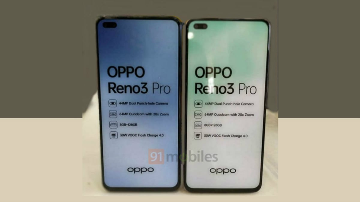 Oppo Reno 3 Pro India Variant Spotted in a Retail Store With Key Specifications: Report