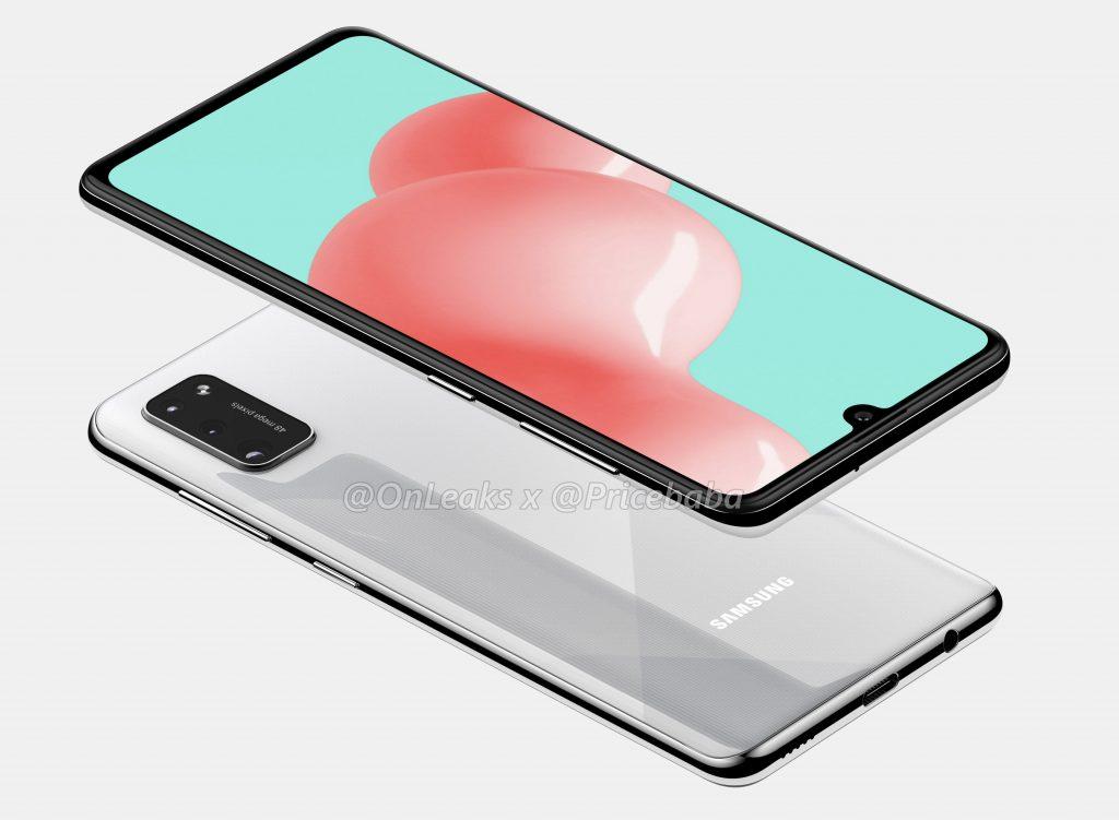 Samsung Galaxy A41 thể hiện trong một tập hợp các biểu hiện gần chính thức 4