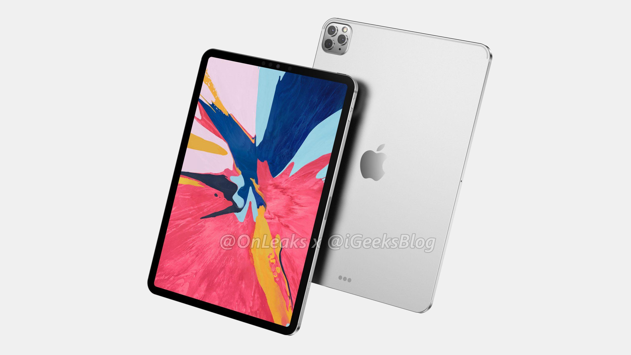 iPad Pro 2020: kết xuất lần đầu tiên với cảm biến ảnh ba 1