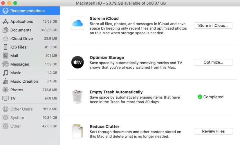 khuyến nghị lưu trữ mac