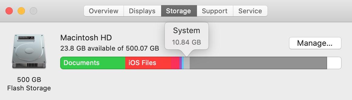 hệ thống lưu trữ trên máy mac của tôi