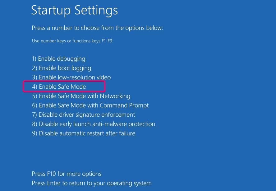 Bật chế độ An toàn trong Windows 10
