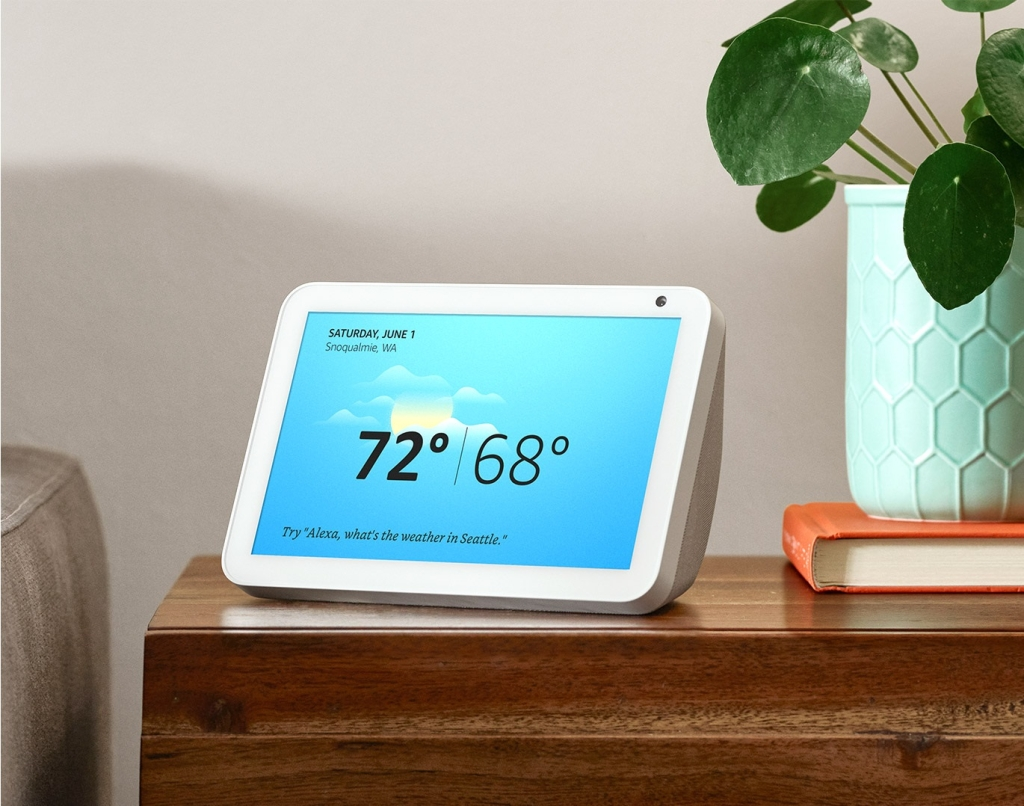 Echo Show 8 hiển thị nhiệt độ