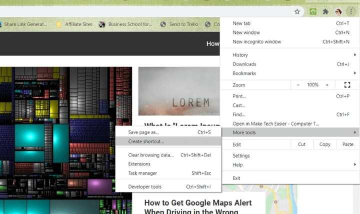 Pin Phím tắt trang web Chrome Tạo lối tắt