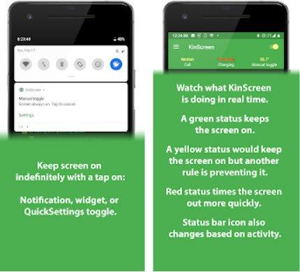 KinScreen, hoàn toàn theo dõi hành vi màn hình trên Android 2