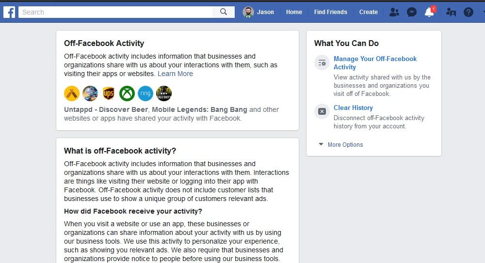 Các bên thứ ba gửi các hoạt động web và ứng dụng tới Facebook, đây là cách vô hiệu hóa ...