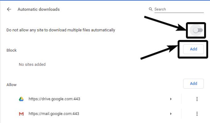Cách bật nhiều tệp tải xuống trong trình duyệt Chrome