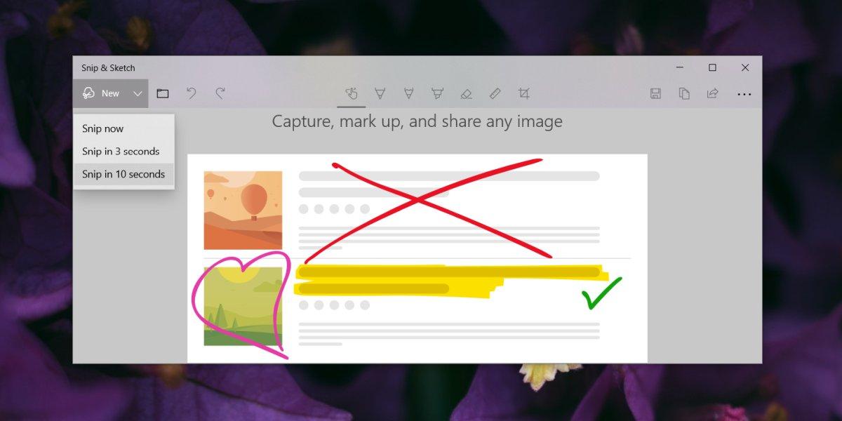 Cách lấy menu với Snip & Sketch active Windows 10 1