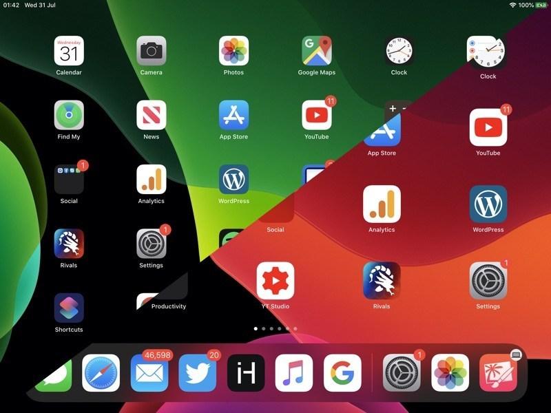 Cách thay đổi kích thước của biểu tượng màn hình chính trên iPadOS