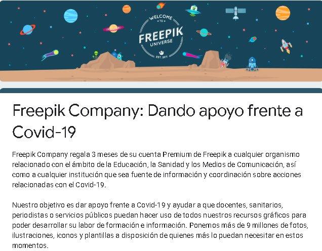 Freepik tặng các tài khoản Premium để tạo các chiến dịch thông tin coronavirus 2