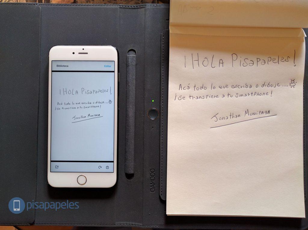 Ghi chú trên giấy và sao chép chúng vào điện thoại thông minh của bạn với Bamboo Spark 1