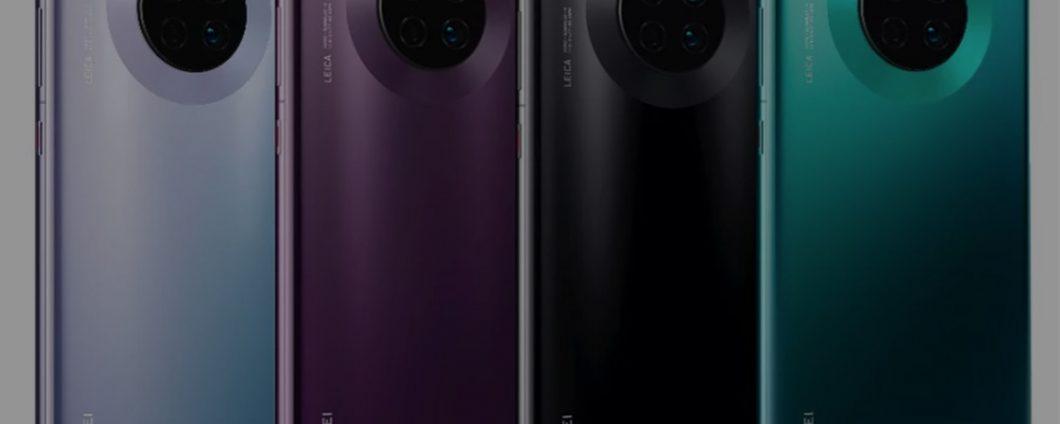 Huawei Mate 30: màu sắc và thông số kỹ thuật bị rò rỉ