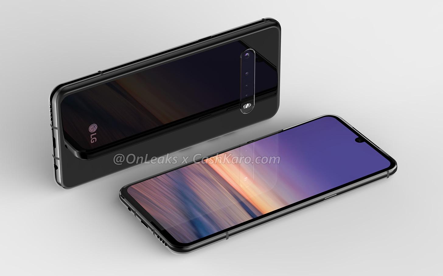 Kết xuất của LG G9 cho thấy vị trí ít hơn và camera phía sau