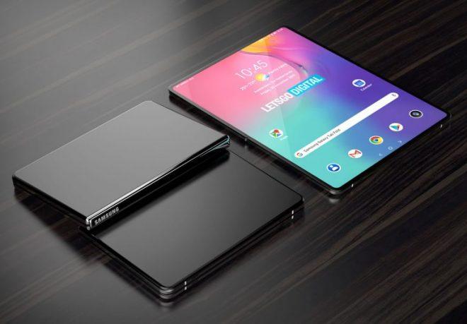 Máy tính bảng gấp bằng sáng chế Samsung trông lớn hơn Galaxy Fold