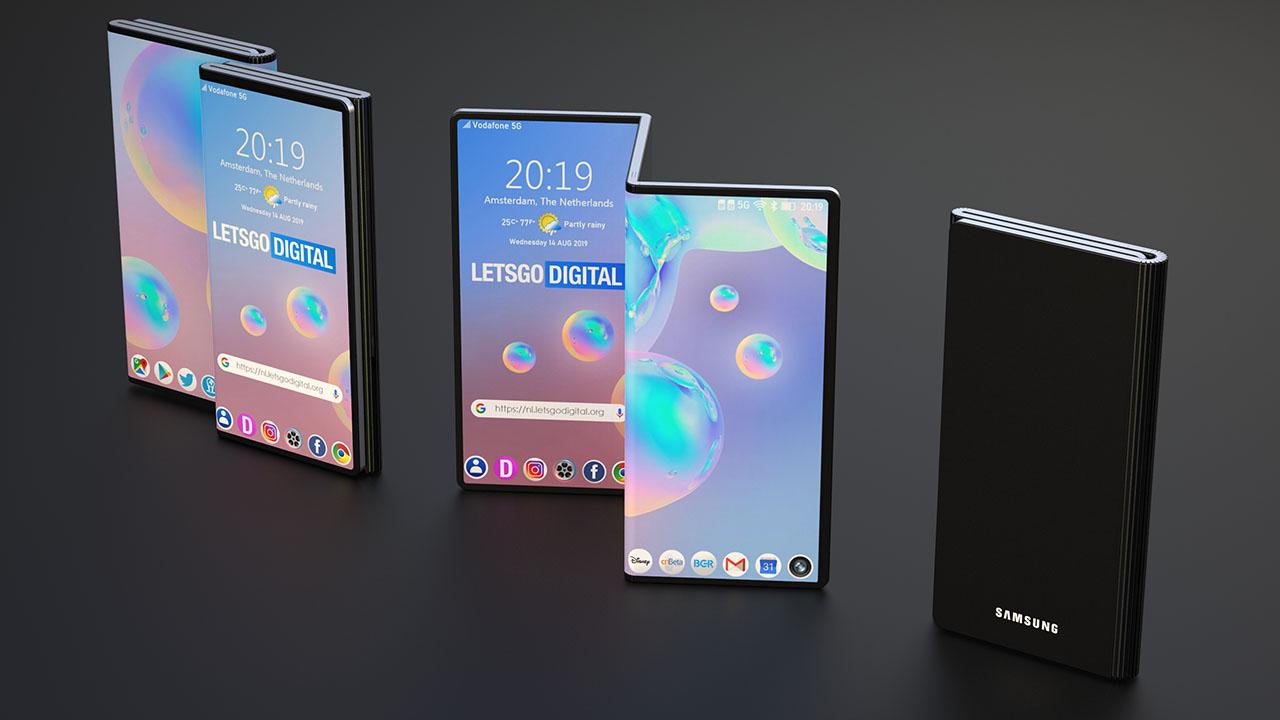 Samsung cũng đã được cấp bằng sáng chế cho một điện thoại thông minh gấp đôi