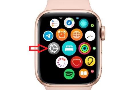 Mở ứng dụng Cài đặt trên Apple Watch