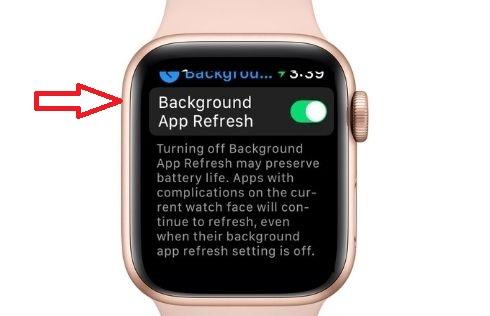 Kiểm soát việc làm mới ứng dụng nền khi bật Apple Watch