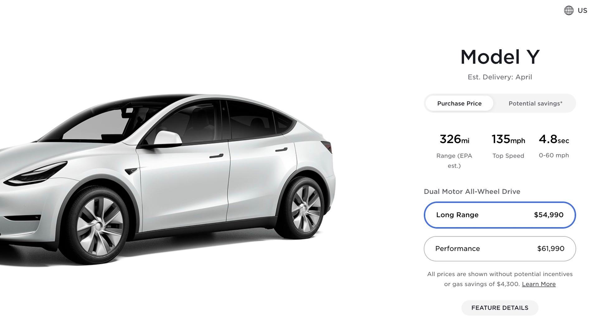 Tesla Model Y Giá mới