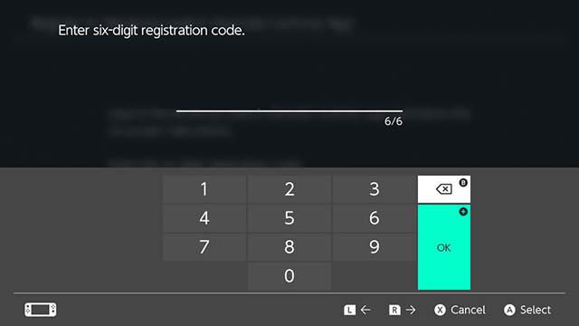 nhập mã đăng ký nintendo switch